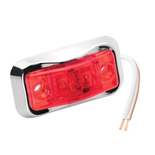 LED RED SIDE MARKER CLR LGHT CHRME BEZEL by:  FultonWesbar Part No: 54201-002 - Canada - Canadian Dollars