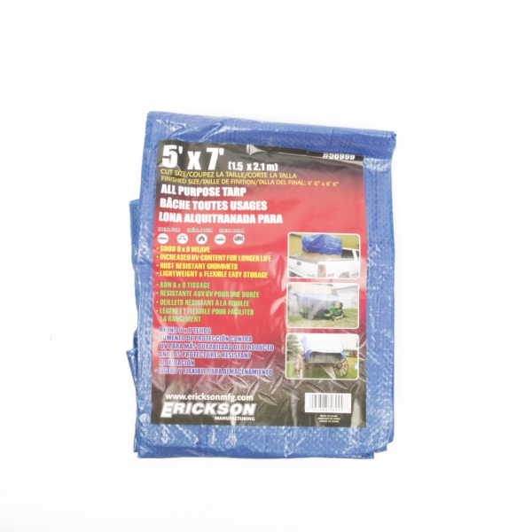 Blue tarp 5x7 by:  Erickson Part No: 56999 - Canada - Canadian Dollars