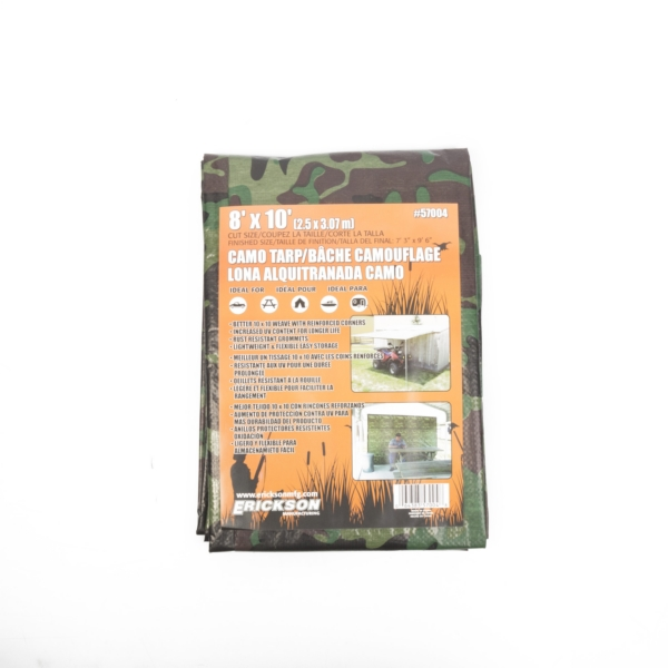 8 X10  CAMO TARP  W/ DISPLAY BOX by:  Erickson Part No: 57004 - Canada - Canadian Dollars