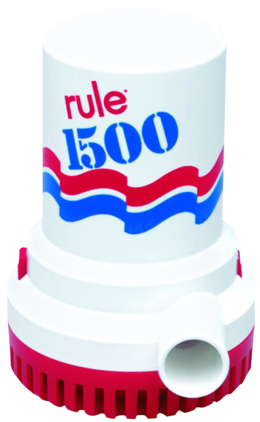 RULE BILGE PUMP 1500, 12V by:  JabscoRule Part No: 42041 - Canada - Canadian Dollars