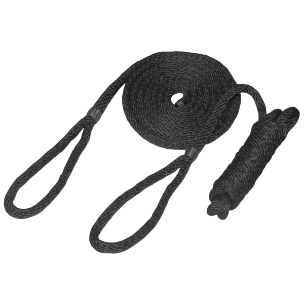 DOUBLE BRAID FENDER WHIP 1/4 X 6  BLACK by:  Boatersports Part No: 53323 - Canada - Canadian Dollars