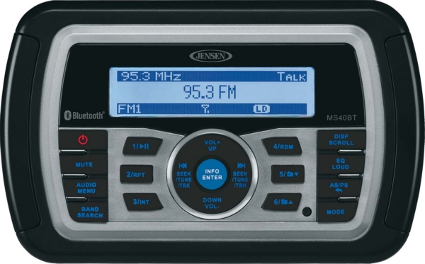 AM/FM/WB/USB BLUETOOTH STEREO by:  Jensen Part No: MS40BTR - Canada - Canadian Dollars