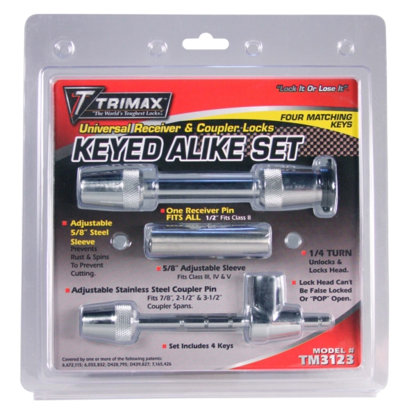 RECEIVER LOCK KIT UNIVERSAL by:  Trimax Part No: TM3123 - Canada - Canadian Dollars