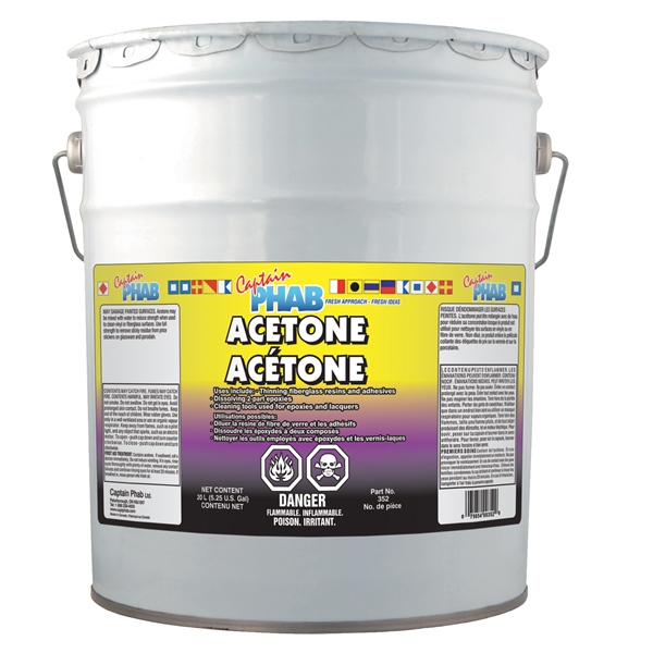 **(DG) ACETONE, 20 LITRE by:  CaptainPhab Part No: 352# - Canada - Canadian Dollars