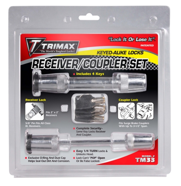 RECEIVER LOCK KIT 5/8   & 3 1/2 by:  Trimax Part No: TM33 - Canada - Canadian Dollars