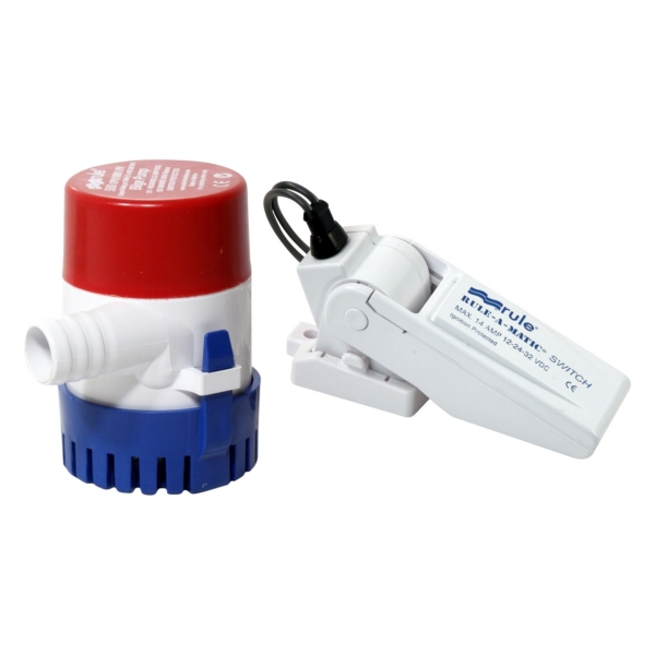 BILGE PUMP 500 GPH AND SWITCH by:  Rule Part No: 25-35A - Canada - Canadian Dollars
