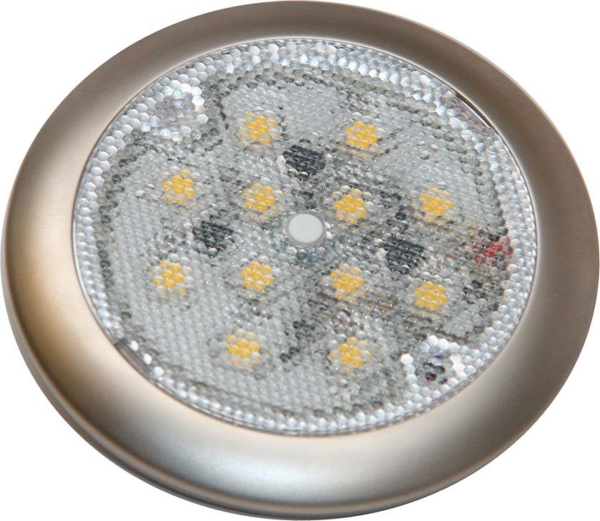 LED LIGHT WH W/SATIN NICKEL TRIM by:  SeaDog Part No: 401676-1 - Canada - Canadian Dollars