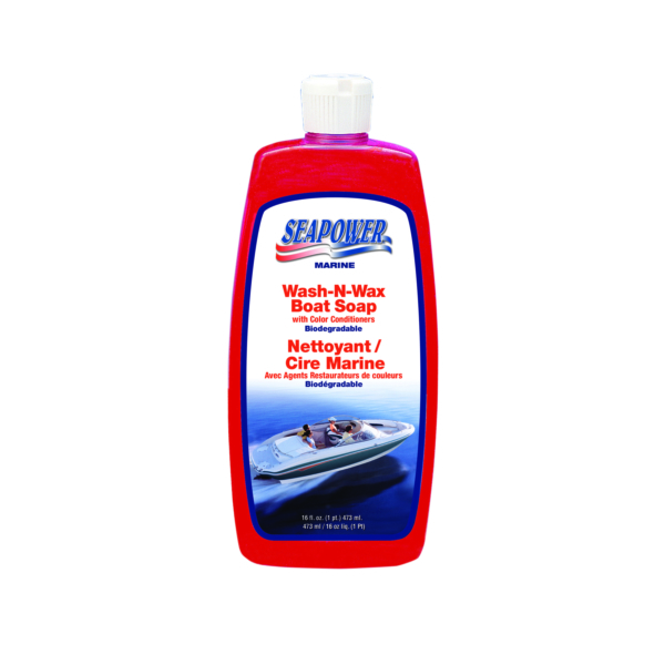 WASH & WAX BOAT SOAP 16 OZ by:  Seapower Part No: SWS-16.B - Canada - Canadian Dollars
