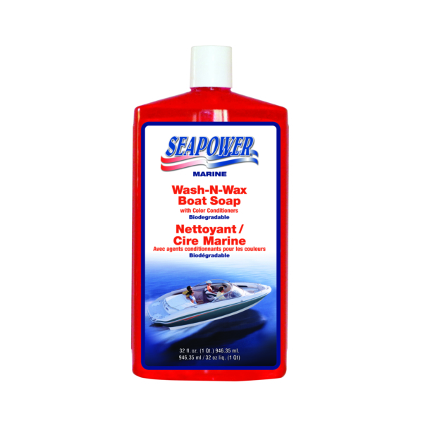 WASH & WAX BOAT SOAP 32 OZ by:  Seapower Part No: SWS.32.B - Canada - Canadian Dollars