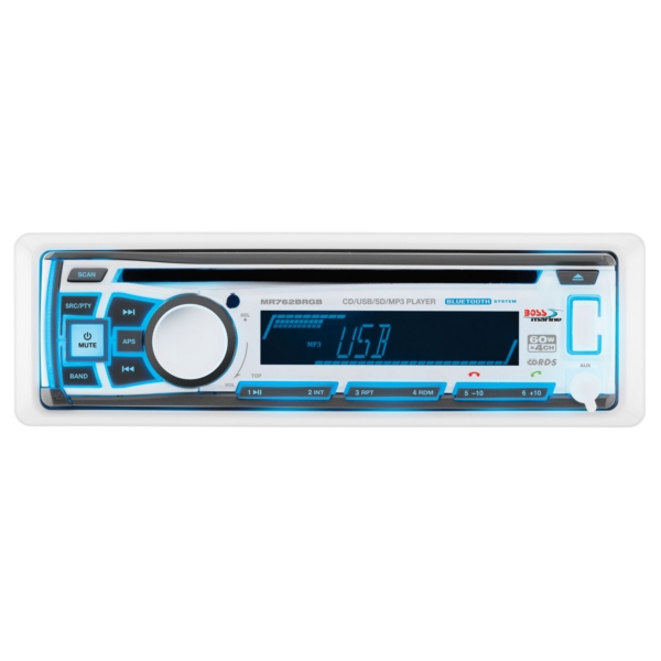 BLUETOOTH MP3/CD/RADIO WITH RBG RECEIVER by:  BossAudio Part No: MR762BRGB - Canada - Canadian Dollars