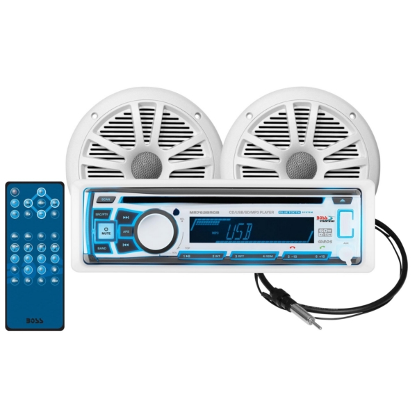 RECEIVER, SPEAKERS AND ANTENNA PACKAGE by:  BossAudio Part No: MCK762BRGB.6 - Canada - Canadian Dollars