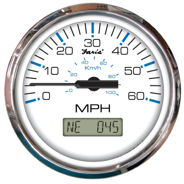 SPEEDOMETER CHESAPEAKE SS 60MPH GPS WH by:  Faria Part No: SGP003 - Canada - Canadian Dollars