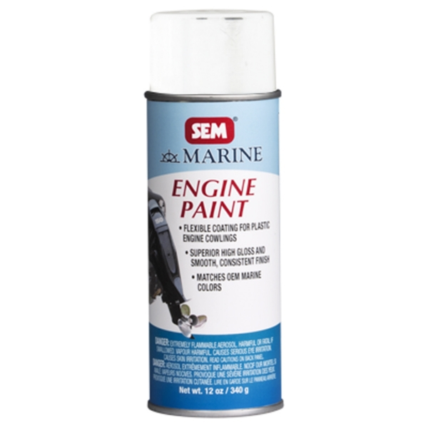 ENGINE PAINT - EVINRUDE WHITE 16OZ by:  Sem Part No: M25503 - Canada - Canadian Dollars