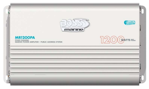 4 CHANNEL AMPLIFIER W/PA SYSTEM by:  BossAudio Part No: MR1200PA - Canada - Canadian Dollars
