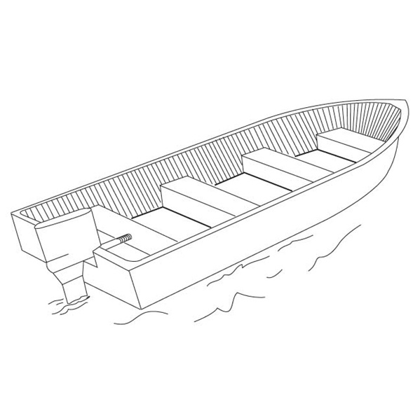 SHOREMASTER V-HULL FISHING BOAT 14 by:  Boatersports Part No: 666102G - Canada - Canadian Dollars