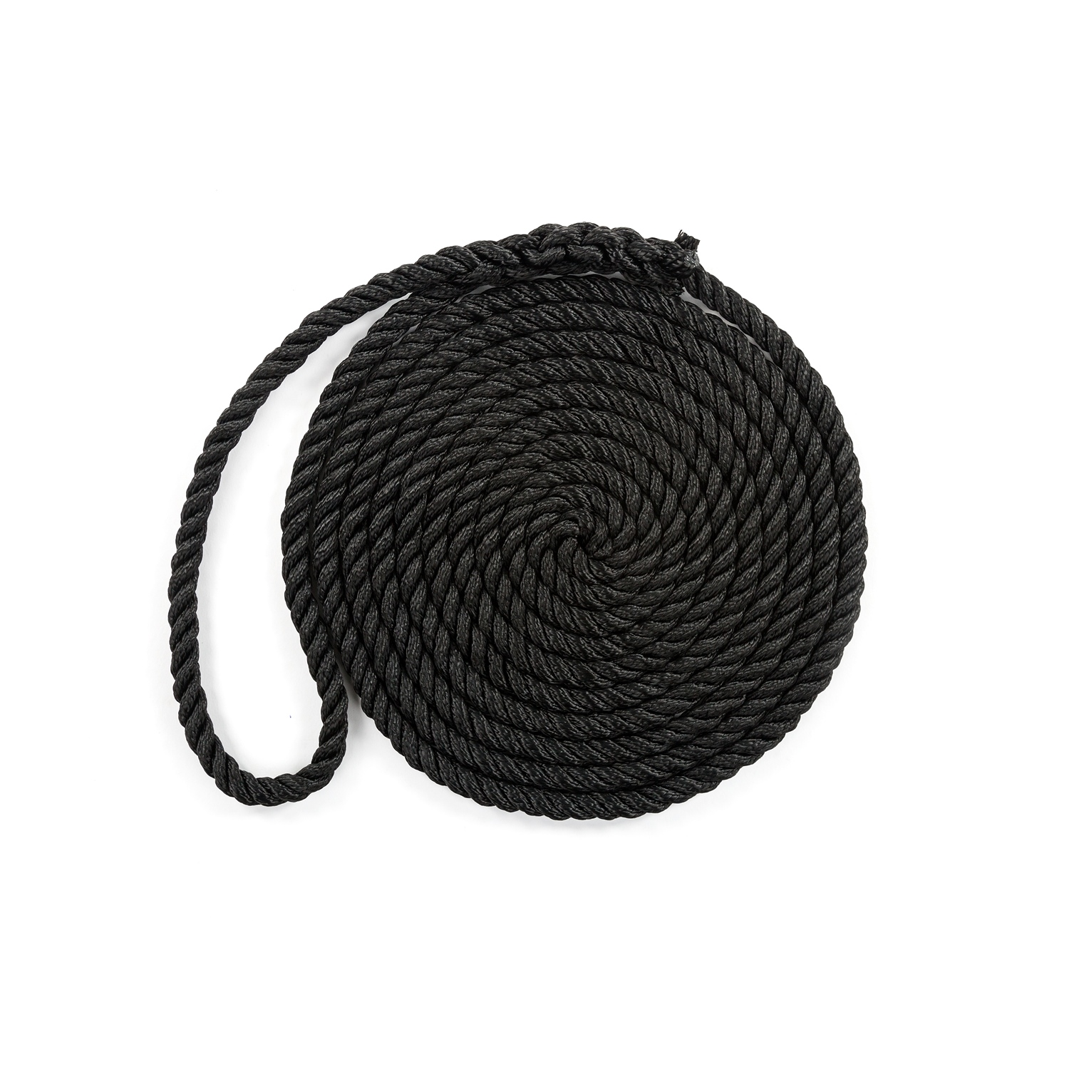"ANCHOR ROPE DOCK LINE 5//8/"" X 50/' DOUBLE BRAIDED 100/% NYLON BLACK MADE IN USA"