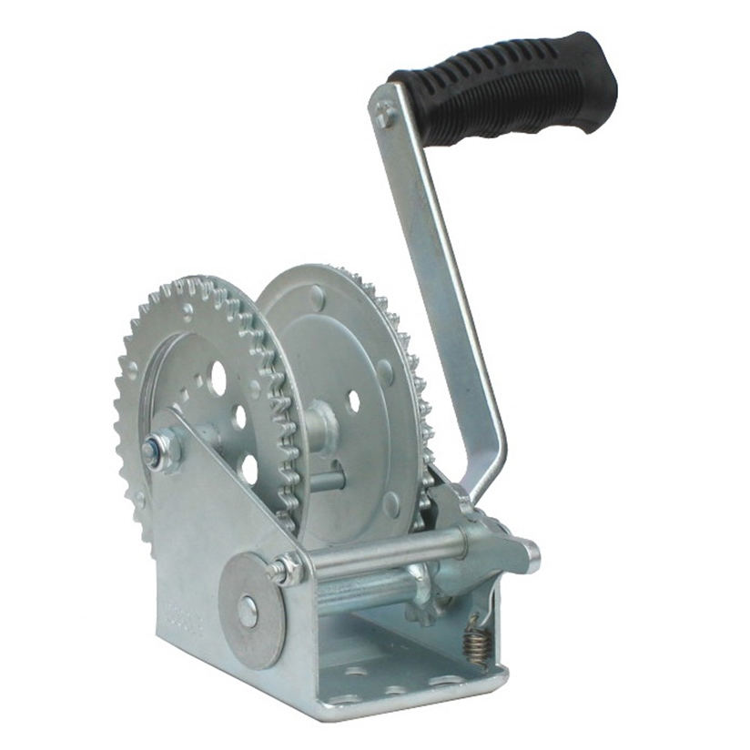 New 2000 Pound Hand Cable Winch For Boat//Trailer New