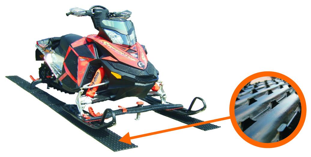 SUPER GLIDES II PRO SNOWMOBILE//ATV TRAILER GUIDES W//TRACTION