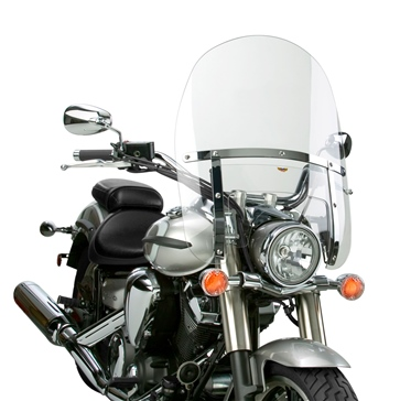 National Cycle Touring HD Windshield Front - Honda, Kawasaki, Suzuki, Yamaha, Harley-Davidson - Polycarbonate