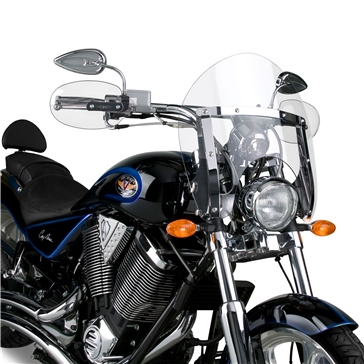 NATIONAL CYCLE SwitchBlade Shorty Windshield Front - Honda, Suzuki, Yamaha, Triumph, Victory - Acrylic Plastic