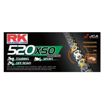 RK EXCEL Chaîne d'entraînement - 520XSO Chaîne RX-Ring