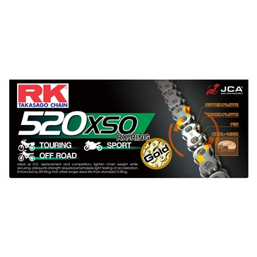 RK EXCEL Drive Chain - GB520XSO RX Ring Chain
