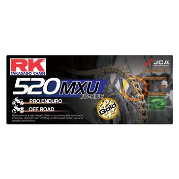 RK EXCEL Chaîne d'entraînement - GB520MXU Chaîne de motocross