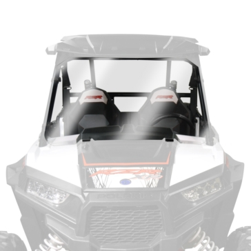 NATIONAL CYCLE Wash'n'Wipe™ Full UTV Windshield Front - Polaris - Polycarbonate