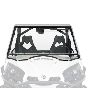 National Cycle Wash'n'Wipe Full Windshield Front - Can-am - Polycarbonate