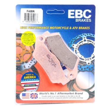EBC  Plaquette de frein en métal fritté Série «R» - Longue durée Métal fritté - Avant/Arrière