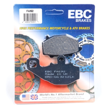 "EBC  ""X"" Series Moto-X Sport & Enduro Brake Pad Organic - Rear"