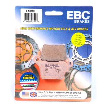 "Sintered metal EBC  ""R"" Sintered ATV & Moto-X Brake Pad"