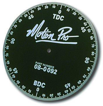 MOTION PRO Degree Wheel Port Timing