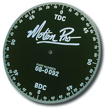 MOTION PRO Degree Wheel Port Timing