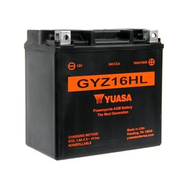 Yuasa Battery Maintenance Free AGM High Performance GYZ16HL