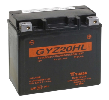 Yuasa Battery Maintenance Free AGM Factory Activated GYZ20HL