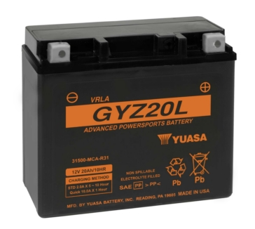 Yuasa Battery Maintenance Free AGM Factory Activated GYZ20L