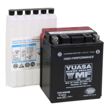 Yuasa Battery Maintenance Free AGM High Performance YTX14AH-F/A
