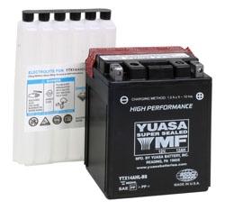 Yuasa Batterie Haute Performance AGM sans entretien YTX14AH-BS