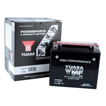 Batterie Haute Performance MF (sans entretien) YUASA YTX20H-BS