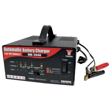 Yuasa Battery Charger & Maintainer Automatic 4A 010275