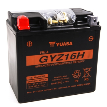 Yuasa Battery Maintenance Free AGM High Performance GYZ16H
