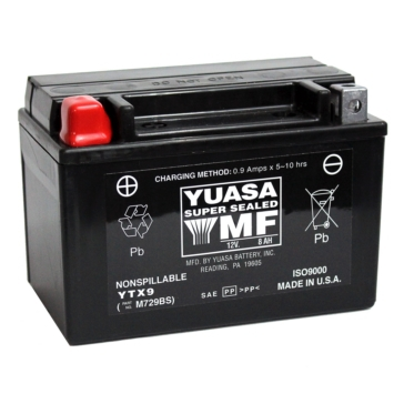 Yuasa Factory Activated Maintenance Free (AGM) Batteries YTX9-BS