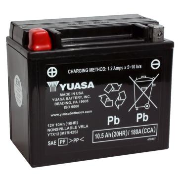 Yuasa Battery Maintenance Free AGM Factory Activated YTX12