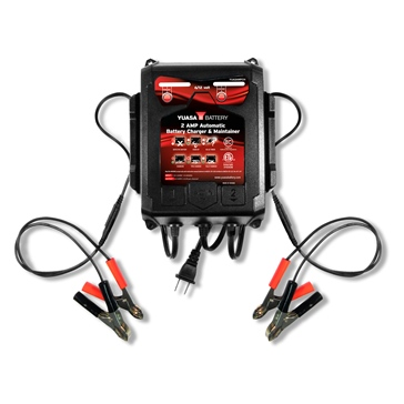 Yuasa Battery Charger & Maintainer Automatic 2A