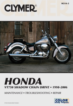017000 CLYMER Honda VT750 Shadow Chain Drive 98-06 Manual