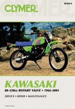 Manuel du Kawasaki 80-350cc Rotary Valve 66-01 CLYMER M350-9