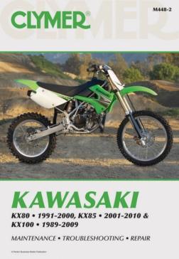 017066 CLYMER Kawasaki KX80 91-00, KX85 01-10 and KX100 89-09 Manual