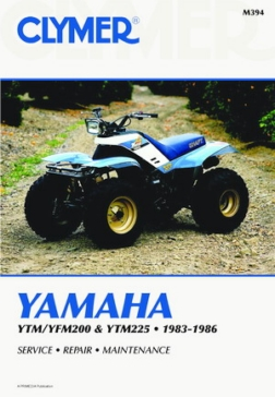 M394 CLYMER Yamaha YTM200/YTM225 83-85 and YFM200 85-86 Manual