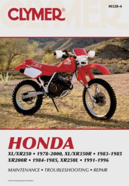 M328-4 CLYMER Honda XL/XR250 78-00, XL/XR350R 83-85 Manual